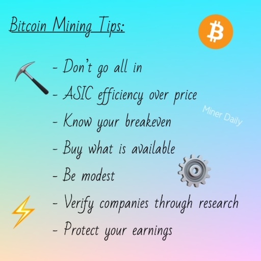 How to be a bitcoin miner, our top tips from Miner Daily.